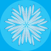 Abstract isolated vector snowflake — Vector de stock