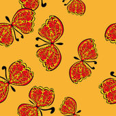 Abstract seamless pattern with butterflies — 图库矢量图片