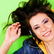 Lovely girl have fun with a music — Stock Photo #7636341