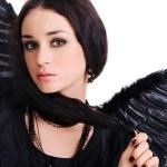 Portrait of a black angel — Stock Photo