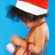 Cute Christmas child — Stock Photo