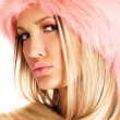 Gorgeous woman in a fur hat — Stock Photo #7639935