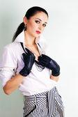 Seductive elegant dressed woman — Stock Photo
