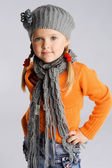 Little fashionable girl — Stock Photo