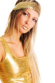 Pretty golden girl — Stock Photo
