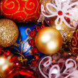 Close-up picture of splendid colorful Christmas toys — Stock Photo #7640105