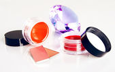 Cosmetics with a crystal — Stock Photo