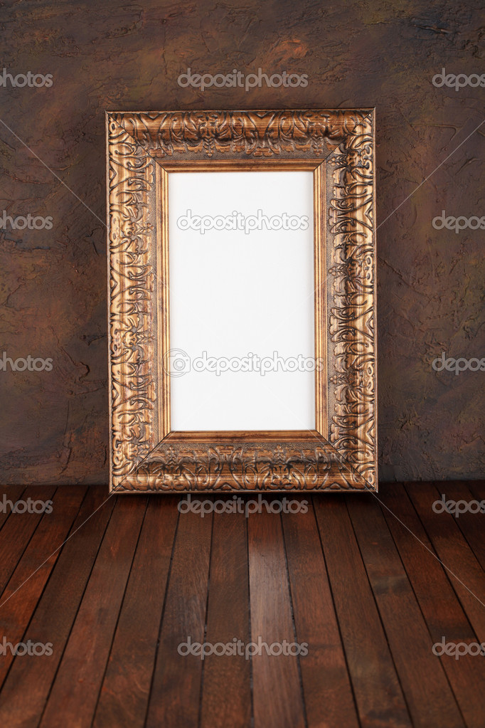 Old  frames over the grunge wall background   Stock Photo #7031646