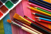 Items for drawing — Stock Photo