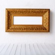 Old picture frame on a wall — Stock Photo #7554143
