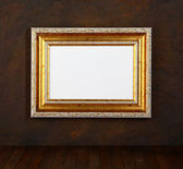 Old picture frame on a wall — Stock Photo