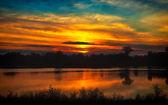 Red sunset — Stock Photo