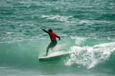 Surfing Italy sport, wave — Stock Photo