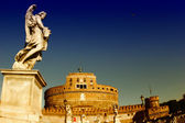 Rome Castel Sant'Angelo, the Mausoleum of Hadrian — Stock Photo