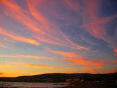 Landschap sunset italië zee strand — Stockfoto