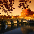 "Rome ""Castel Sant Angelo"" (the Mausoleum of Hadrian) - Stock Photo"