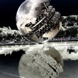 The Sphere Sculpture Italy - Stock Photo