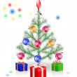 Stock vektor: Christmas tree decoration