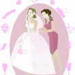 Stock Vector: Bride illustration