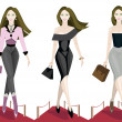 Fashion girl. — Stock Vector #7389360