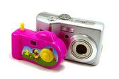 The digital and children's camera — Stock Photo
