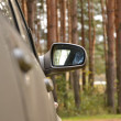 Automobile lateral mirror - Stock Photo