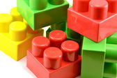 Children's color cubes — Stock Photo