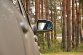 Automobile lateral mirror — Stock Photo