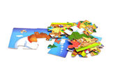 Children's puzzles — Stock Photo