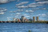 Downtown Boston From the Harvard Bridge — Stock Photo