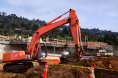Excavator At Work — Stock Photo