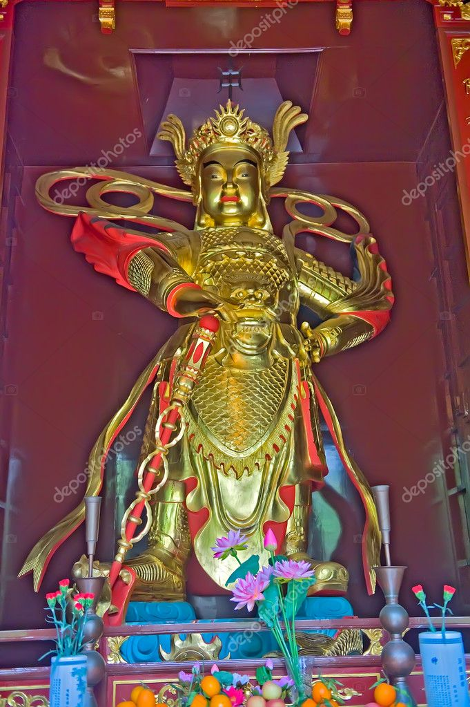 Nirvana statue in Baolin Temple in Shunde, Foshan,  Guangdong China — Stock Photo #6989651