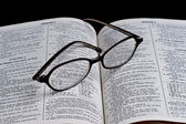 Bible reading — Stock Photo