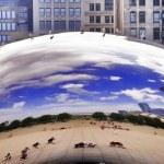 Chicago Millenium Park Cloud Gate — Stock Photo