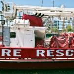 Fire rescue boat — Stock Photo