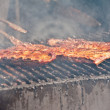 Barbecue ribs outside during rib festival in Kitchener — Stock Photo