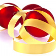 Traditional Christmas Balls on white background — Lizenzfreies Foto