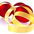 Traditional Christmas Balls on white background — Photo