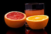 Mixed orange and grapefruit juice — Stock Photo
