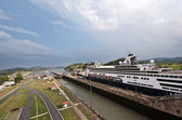 Miraflores locks Panama canal — Stock Photo
