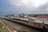 Esclusas de miraflores del canal de panamá — Foto de Stock