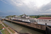 Panama canal Miraflores locks — Stock Photo