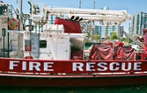 Fire rescue boat — Stock Photo