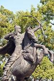 Escultura guerreiro na china — Foto Stock