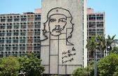 Iron work of Che Guevara image in Havana Cuba — Stock Photo
