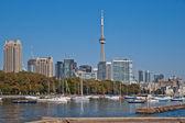 Toronto high rise cityscape panorama CN Tower luxury condominium — Stock Photo