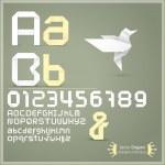 Origami alphabet — Stock Vector
