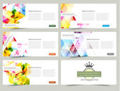 Vector Header Banner set — Stock Vector