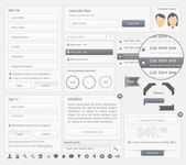 Web site design navigation template elements with icons set — Vecteur