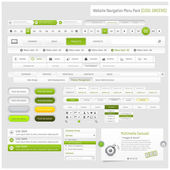 Web site design navigation template elements with icons set — Stockvector